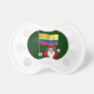Santa Claus With Ensign Of Colombia Pacifier