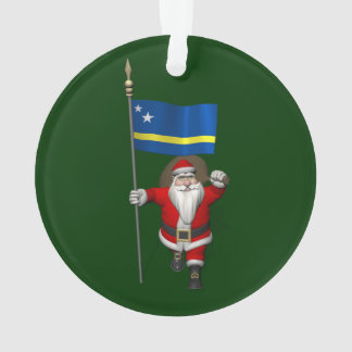 Santa Claus With Ensign Of Curaçao Ornament