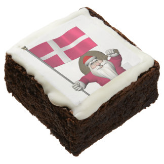 Santa Claus With Ensign Of Denmark Dannebrog Brownie