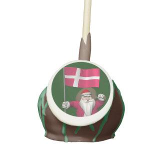 Santa Claus With Ensign Of Denmark Dannebrog Cake Pops