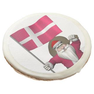 Santa Claus With Ensign Of Denmark Dannebrog Sugar Cookie