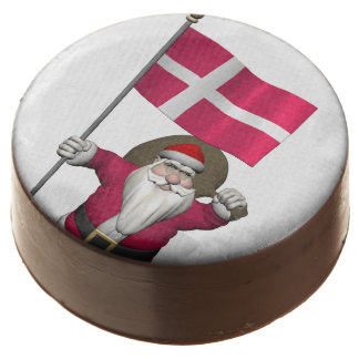 Santa Claus With Ensign Of Denmark Dannebrog Chocolate Dipped Oreo