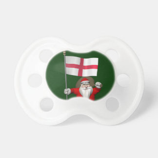 Santa Claus With Ensign Of England Pacifier