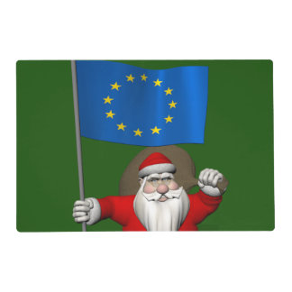 Santa Claus With Ensign Of European Union Placemat