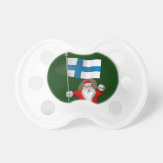 Santa Claus With Ensign Of Finland Pacifier