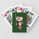 Santa Claus With Ensign Of Florida Bicycle Playing Cards