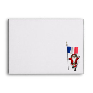Santa Claus With Ensign Of France Envelopes