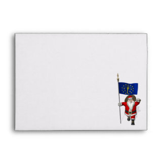 Santa Claus With Ensign Of Indiana Envelope