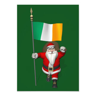 Santa Claus With Ensign Of Ireland Announcement
