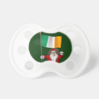 Santa Claus With Ensign Of Ireland Pacifier