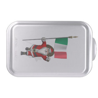 Santa Claus With Ensign Of Italy Cake Pan