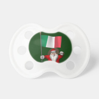 Santa Claus With Ensign Of Italy Pacifier