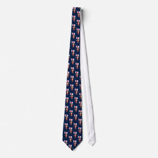 Santa Claus With Ensign Of Japan Neck Tie