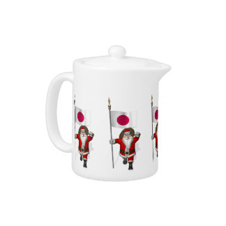 Santa Claus With Ensign Of Japan Teapot