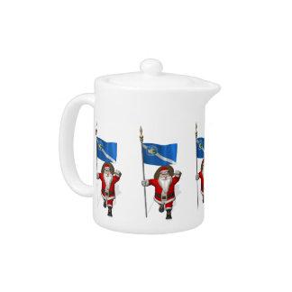 Santa Claus With Ensign Of Las Vegas Teapot