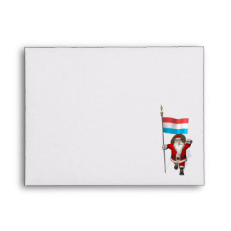 Santa Claus With Ensign Of Luxembourg Envelope