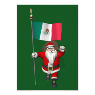 Santa Claus With Ensign Of Mexico Card