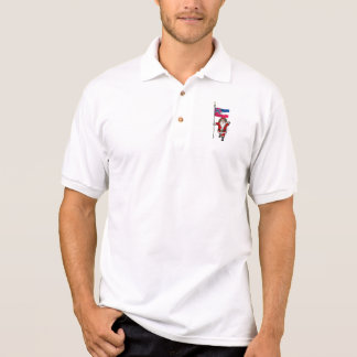Santa Claus With Ensign Of Mississippi Polo T-shirt