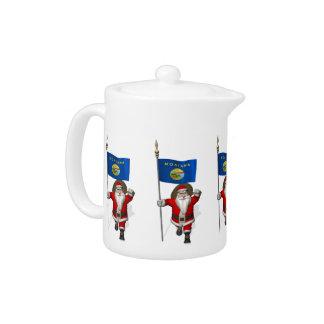 Santa Claus With Ensign Of Montana Teapot