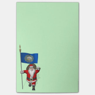 Santa Claus With Ensign Of New Hampshire Post-it® Notes