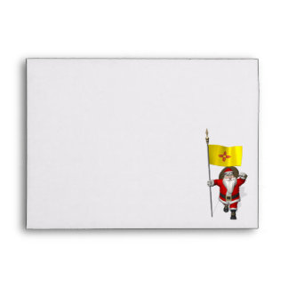 Santa Claus With Ensign Of New Mexico Envelopes