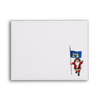 Santa Claus With Ensign Of New York US State Envelope