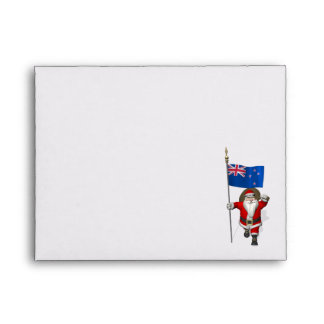Santa Claus With Ensign Of New Zealand Envelopes