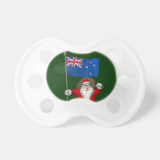 Santa Claus With Ensign Of New Zealand Pacifier