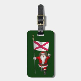 Santa Claus With Ensign Of Northern Ireland Bag Tag