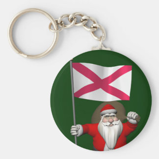 Santa Claus With Ensign Of Northern Ireland Keychain