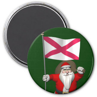 Santa Claus With Ensign Of Northern Ireland Magnet