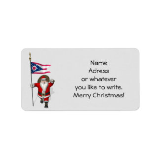 Santa Claus With Ensign Of Ohio Label