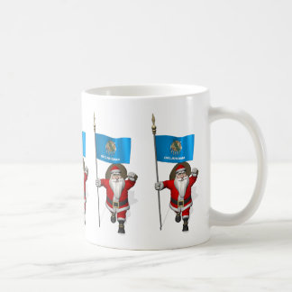 Santa Claus With Ensign Of Oklahoma Coffee Mug