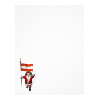 Santa Claus With Ensign Of Österreich Letterhead