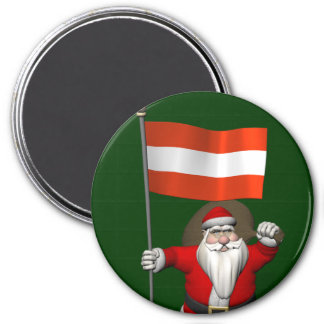 Santa Claus With Ensign Of Österreich Magnet