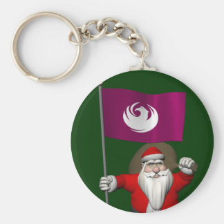 Santa Claus With Ensign Of Phoenix Keychain