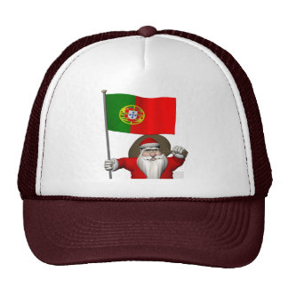 Santa Claus With Ensign Of Portugal Trucker Hat