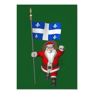 Santa Claus With Ensign Of Québec Card