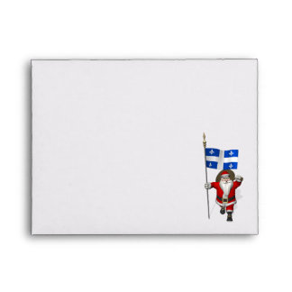 Santa Claus With Ensign Of Québec CDN Envelope