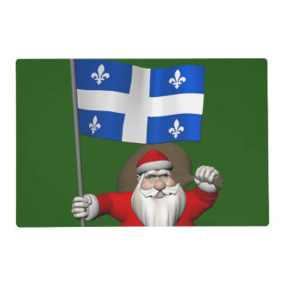 Santa Claus With Ensign Of Québec Placemat