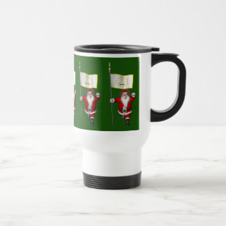 Santa Claus With Ensign Of Rhode Island Travel Mug