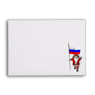 Santa Claus With Ensign Of Russia Envelopes