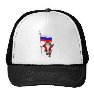 Santa Claus With Ensign Of Russia Trucker Hat