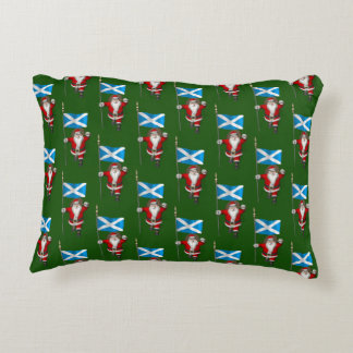 Santa Claus With Ensign Of Scotland Accent Pillow