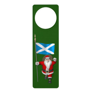 Santa Claus With Ensign Of Scotland Door Hanger