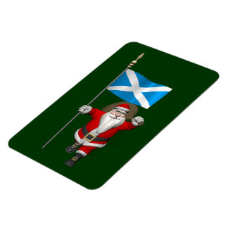 Santa Claus With Ensign Of Scotland Magnet