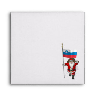 Santa Claus With Ensign Of Slovenia Envelope