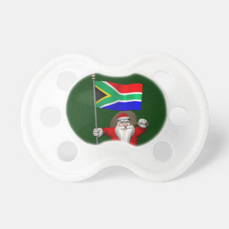 Santa Claus With Ensign Of South Africa Pacifier