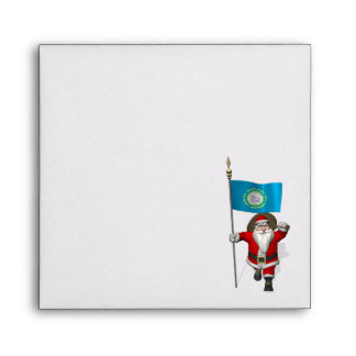 Santa Claus With Ensign Of South Dakota Envelopes