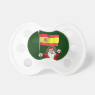 Santa Claus With Ensign Of Spain Pacifier
